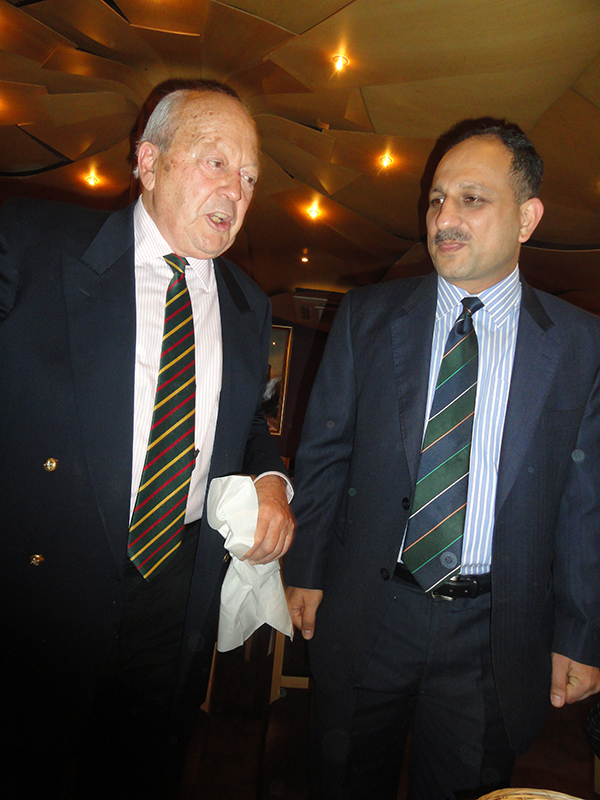 The President with Colonel Omer Bokhari, Army and Air Adviser to the Pakistan High Commission in London.