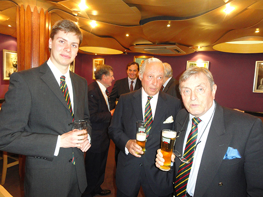 Alexander Wilson, Lt Col Derek Lawrence-Brown and Michael Savage (In background Sir David John and Erringtons (Father and Son)