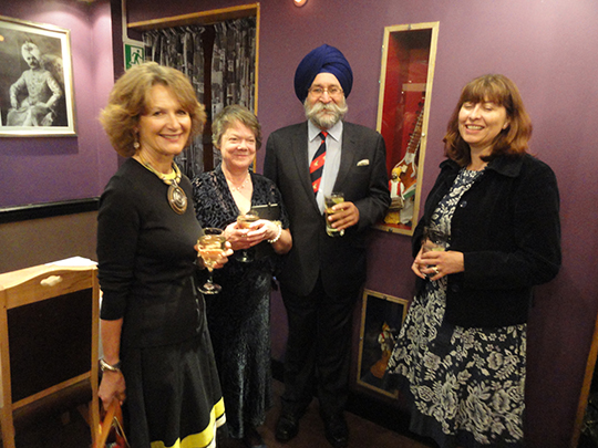 Harbinder Singh Rana and two guests with Mrs Peter Rafferty